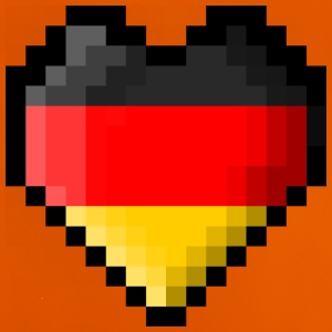 Pixel heart Germany flag - Baby T-Shirt