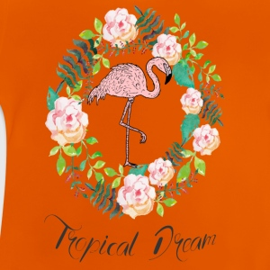 Flamingo - Tropical Dream - Blumenkranz - Baby T-Shirt