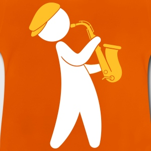 A Jazz Musician Playing On The Saxophone - Baby T-Shirt