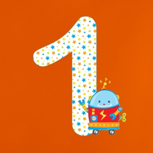 Birthdaynumber robot 1 - Baby T-shirt