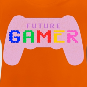 Pink Future Gamer Design by JuiceMan Benji Gaming - Baby T-Shirt