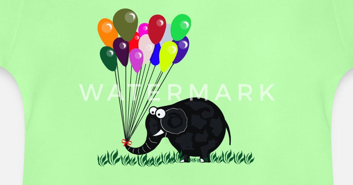 'elefant mit luftballon' baby tshirt  spreadshirt
