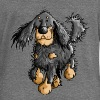 Running Gordon Setter - Dog  - Women's Boat Neck Long Sleeve Top