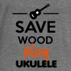 Musical Instrument - Save Wood play Ukulele - Bluza damska Bella z dekoltem w łódkę
