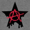Anarchy star chaos symbol rebel revolution punk - Felpa con scollo a barca da donna, marca Bella