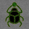 scarabée - Scarab Amulet for Strength & Courage / Protection Amulet, green / - Pull Femme col bateau de Bella