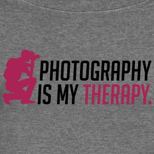 Photography is my therapy - Women's Boat Neck Long Sleeve Top