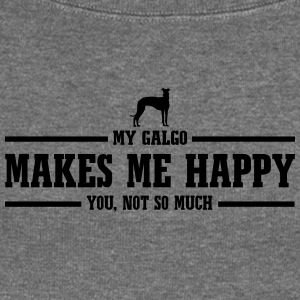 GALGO makes me happy - Women's Boat Neck Long Sleeve Top