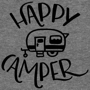 Camping: Happy Camper - Women's Boat Neck Long Sleeve Top