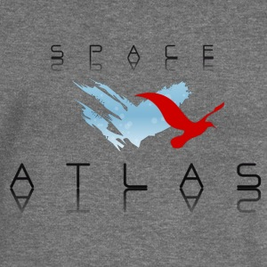 Space Atlas Baseball Tee Red - Women's Boat Neck Long Sleeve Top