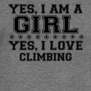 yes gift on a girl love bday gift CLIMBING - Women's Boat Neck Long Sleeve Top