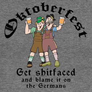 Funny Oktoberfest German Drinking - Women's Boat Neck Long Sleeve Top