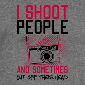 I Shoot People And Sometimes Cut Off Their Head - Women's Boat Neck Long Sleeve Top