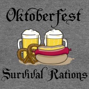Oktoberfest Survival Rations - Women's Boat Neck Long Sleeve Top