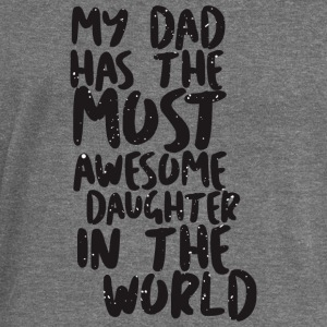 MY DAD has awesome daughter - Women's Boat Neck Long Sleeve Top