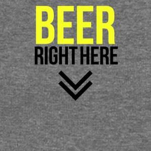 Beer right here - Women's Boat Neck Long Sleeve Top