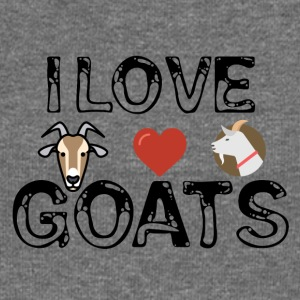 I love goats - Women's Boat Neck Long Sleeve Top