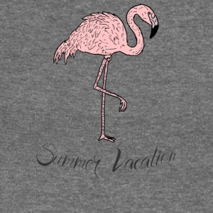 Pink exotic flamingo - Summer Vacation - Women's Boat Neck Long Sleeve Top