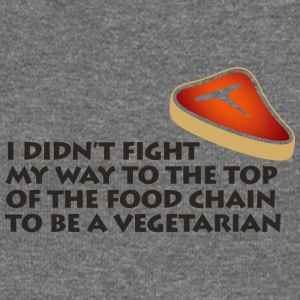 I'm On Top Of The Food Chain Not A Vegetarian - Women's Boat Neck Long Sleeve Top
