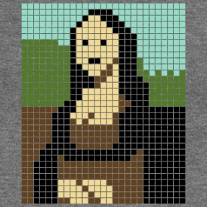 Monalisa pixel art - Women's Boat Neck Long Sleeve Top