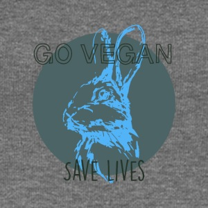 Go vegan save lives - Women's Boat Neck Long Sleeve Top