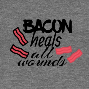 Bacon heals everything - Women's Boat Neck Long Sleeve Top