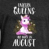 UNICORN QUEENS ARE BORN IN AUGUST - Women's Boat Neck Long Sleeve Top