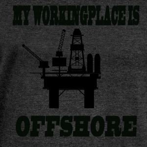 MY WORKINGPLACE IS OFFSHORE - Women's Boat Neck Long Sleeve Top