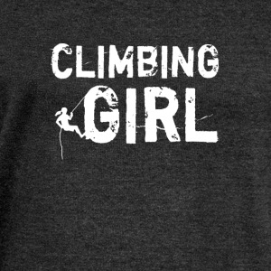 Climbing Girl - Women's Boat Neck Long Sleeve Top