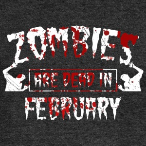Zombies are dead in february - Birthday Birthday - Women's Boat Neck Long Sleeve Top