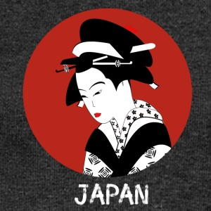 Japan geisha kimono tokio woman cosplay manga comic - Women's Boat Neck Long Sleeve Top