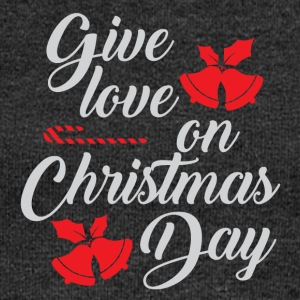 Love on Christmas Day Give Love Christmas - Women's Boat Neck Long Sleeve Top