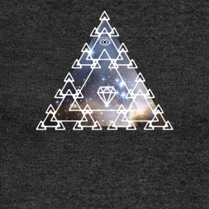 Illuminati Nerd Triangle Game Eye Pyramid Space - Women's Boat Neck Long Sleeve Top