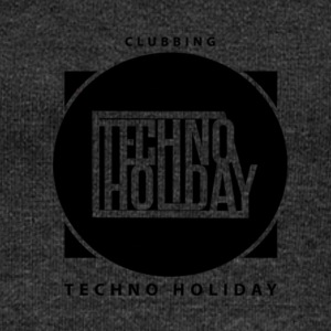 logo_techno_holiday_2017_negro1 - Women's Boat Neck Long Sleeve Top