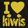 i love kiwis OR I love New Zealand, I love NZ  - Women's Boat Neck Long Sleeve Top