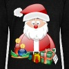 Santa Scene 3 - Women's Boat Neck Long Sleeve Top