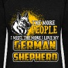 The More People I Meet - German Shepherd - EN - Naisten Bella u-kaula-aukkoinen pusero