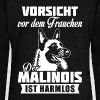 Malinois - attention - Pull Femme col bateau de Bella