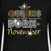 November - Queen - Birthday - 2 - Pull Femme col bateau de Bella