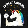 I Sweat Rainbow | Cool Gym Unicorn Design - Women's Boat Neck Long Sleeve Top