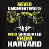 NEVER UNDERESTIMATE A MAN WITH A UNIVERSITY DEGREE - Women's Boat Neck Long Sleeve Top