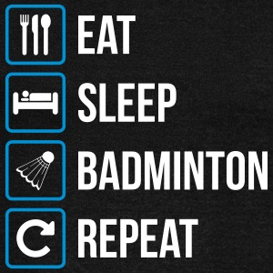 Eat Sleep Badminton Repeat - Felpa con scollo a barca da donna, marca Bella
