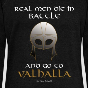 Real Men go to Valhalla - Women's Boat Neck Long Sleeve Top