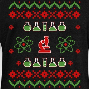 Ugly Christmas Pullover Sweatshirt Science - Women's Boat Neck Long Sleeve Top