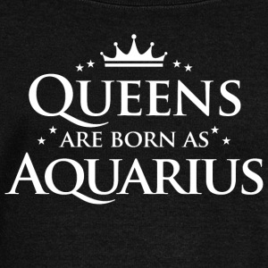 Queens are born as Aquarius - Women's Boat Neck Long Sleeve Top