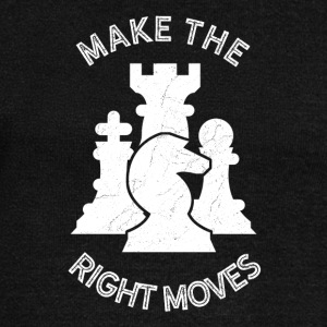 Make the right moves - chess strategy brain train - Women's Boat Neck Long Sleeve Top