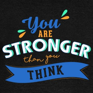 You are stronger than you think - Women's Boat Neck Long Sleeve Top