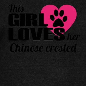 DOG THIS GIRL LOVES GIFT Chinese crested - Women's Boat Neck Long Sleeve Top
