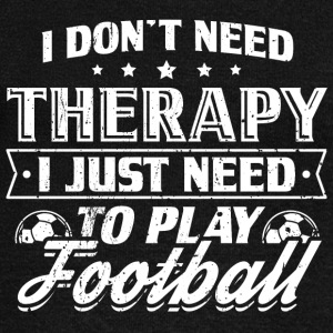 Funny Football Soccer Shirt No Therapy - Women's Boat Neck Long Sleeve Top