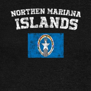 Northern Mariana Islands State Flag Distressed Wine - Women's Boat Neck Long Sleeve Top